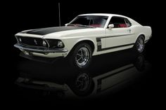 Wimbledon White 1969 Ford Mustang Boss 302