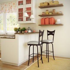 AMISCO - Meadow Stool (41466) - Furniture - Kitchen - Countryside collection - Traditional - Swivel stool