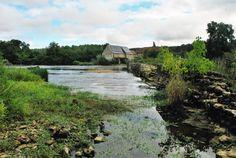Le barrage à l'étiage