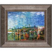 Found it at Wayfair - The Seine Bridge at Asnieres by Van Gogh Framed Hand Painted Oil on Canvas