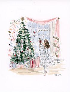 Original Clara and the Nutcracker watercolor Nutcracker Christmas, Pink Christmas, Christmas Images, Christmas Decor, Xmas, Watercolor Print, Watercolor Paintings, Ballet Illustration, Ballet Drawings