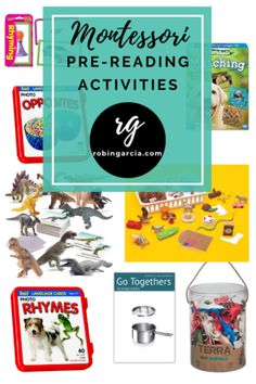 Pre Reading Activities, Reading Lessons, Reading Skills, Rhyming Activities, Montessori Activities, Hands On Activities, Things That Go Together, Phonics Lessons, Montessori Homeschool