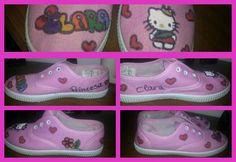Zapatillas decoradas con amor!