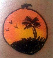 Island Sunset Cheek Art Face Painting