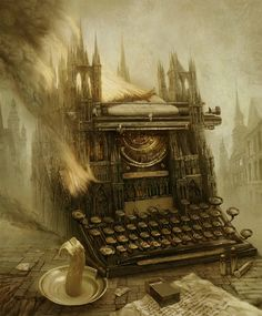 Andrew Ferez is a Russian artist whose paintings are blend of fantasy and surrealism and created with digital art. Most of them are created as covers for various books. View the website Art Du Monde, Design Graphique, Magritte, Surreal Art, Dark Art, Etsy Vintage, Storytelling, Cool Art, Concept Art