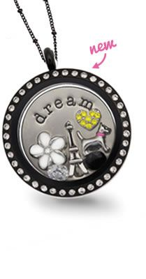 Origami Owl New Spring 2013 line, Black Crystal Locket  www.owllockets.com