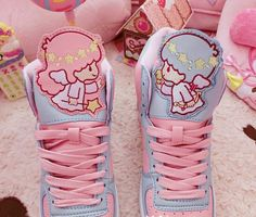 FREE Shipping Harajuku Little Twins sweet Sneakers Shoes - Thumbnail 1 707213f1f