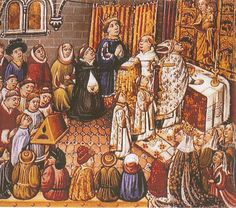 MI PARAISO ESCONDIDO: Oficio Religioso en la Edad Media. (cuadro pintado...