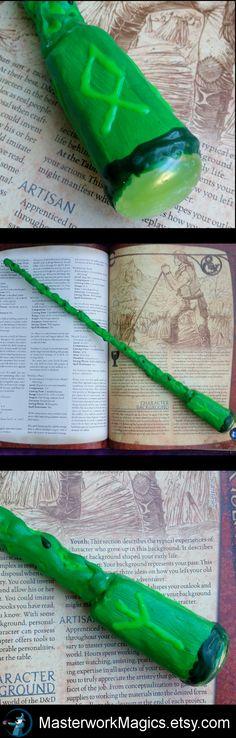 *Sold* Runic Warrior magic wand by Masterwork Magics. #magic #wand