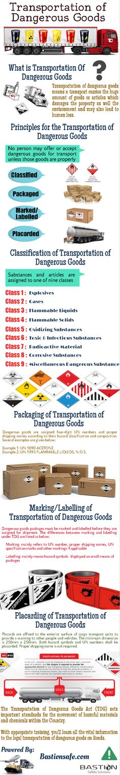 Bastion Safety Solutions - This #Infographic objective is to describe the #Transportation of #Dangerous Goods.  #TDG #Safety #Elearning