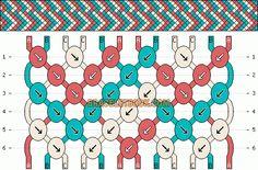 Normal Friendship Bracelet Pattern #4595 - BraceletBook.com