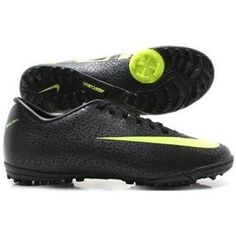 www.asneakers4u.com New designer NIKE Mercurial Victory II TF CR7 Safari Trainers Black Volt Dark Shadow SoccerFootball Cleats