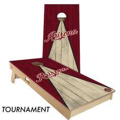 Arizona Triangle Baseball Cornhole Board Set