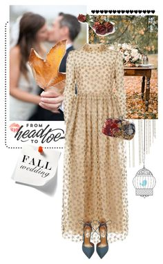 """""""Fall Wedding Guest"""" by pippi-loves-music ❤ liked on Polyvore featuring Jessica Simpson, Etiquette, Valentino, Steve Madden, Alexander McQueen and fallwedding"""