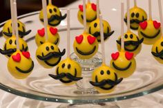 Moustache and Fall in Love Smiles Cakepops