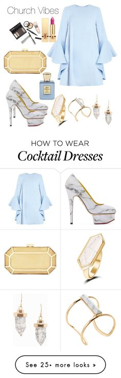 """""""church vibes"""" by felicitysparks on Polyvore featuring Charlotte Olympia, Soo Ihn Kim, Borghese, Bella Bellissima, BCBGMAXAZRIA and Yves Saint Laurent"""