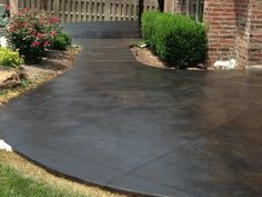 stained concrete red patios, you will have an attractive patio. So, let's change the patio becomes more attractive with red concrete.