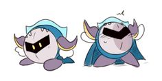 Meta Knight looks so cute there :3