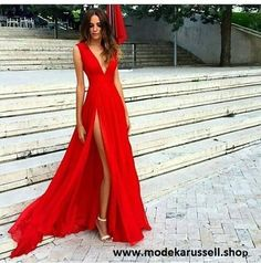 Cut Out Abendkleid Sofia in Rot