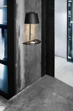 This lamp looks unique and interesting, designed by Hareide Design for Northern Lighting. This lamp has usual table lamp design that cut half and attached to Lighting Concepts, Lighting Design, Lighting Ideas, Unique Lighting, Lighting Solutions, Industrial Lighting, Sconce Lighting, Spot Design, Design Room