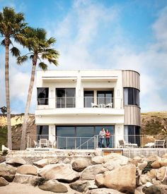 """For the exterior of his LA beach house, actor Bryan Cranston and his wife wanted a material that could stand up to the sea breeze without requiring constantmaintenance. """"Part of the green philosophy is not just what is cheaper; it's what's sustainable,"""" explains Cranston."""