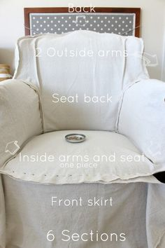 See this step by step tutorial on how to make an armchair slipcover from a dropcloth. It's much easier than you might think. Reupholster Furniture, Furniture Slipcovers, Slipcovers For Chairs, Furniture Covers, Upholstered Furniture, Furniture Makeover, Diy Furniture, Furniture Design, Modern Furniture