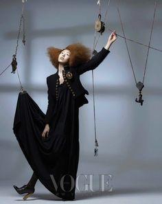 """""""Marionette""""   Model: Kim Min-Hee, Photographer: Bo Lee, Vogue Korea, December 2007"""