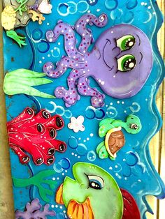 MAR PULPO Foam Sheet Crafts, Foam Crafts, Paper Crafts, Ocean Crafts, Beach Crafts, Class Decoration, School Decorations, Crafts For Kids, Arts And Crafts