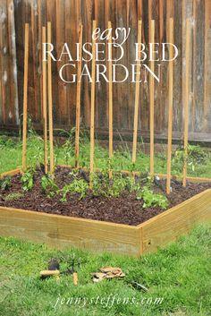 Jenny Steffens Hobick: My $75 Backyard Garden | DIY Raised Bed Garden Box