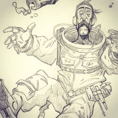 I hope i can get some time this weekend to paint this #kowalski. #warshipjollyroger #sylvainrunberg #scifi #comics #bandedessinee #mikimontllo