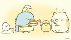 Happy Sunday everyone! Let's all have pancakes Kawaii Doodles, Cute Doodles, Kawaii Drawings, Cute Drawings, Kawaii Cute, Kawaii Anime, Cute Photos, Cute Pictures, Kawaii Wallpaper