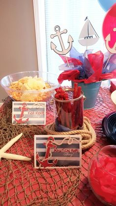Nautical themed party candy