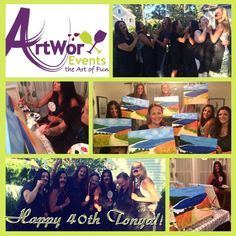 Happy 40th Tonya!!  #paintsip#paintandsip #40th #girlsnight #friends #fun #njlocal #artsy #artists #seagirt #jerseyshore #monet #artworxevents #party #birthday