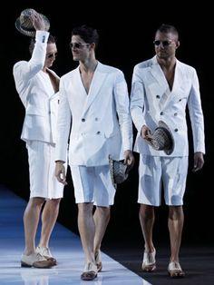 Giorgio Armani - Spring 2013- Seriously??? Really???  This is mens fashion?? Seriously????