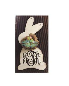 Monogram Bunny Door Hanger