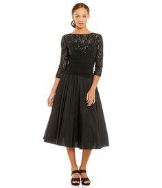 Black:Jessica Howard Illusion Lace Party Dress