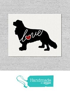 Cavalier King Charles Spaniel Love: An Unframed Burlap or Canvas Wall Art Print for Dog Lovers Personalization Optional from traciwithani http://www.amazon.com/dp/B0161QT552/ref=hnd_sw_r_pi_dp_DXQfwb0QTQT4E #handmadeatamazon
