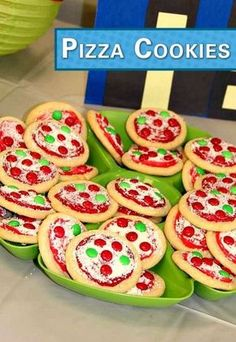Cowabunga! These Pizza Cookies are super awesome! Bake a batch for your ninja turtle party snack, and pair them with a bag of Pop Secret's pre-popped White Cheddar Popcorn.