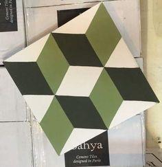 Carreau de ciment BAHYA - motif Cubik www.bahya-deco.com