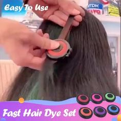 Hair Color Styling Crayons Love, this product was made by thin box, and it is simply damag Diy Hair Dye, Dyed Hair, Fast Hairstyles, Hairstyles For School, Diy Haarfärbemittel, Anti Hair Loss Shampoo, Temporary Hair Dye, Cute Little Girl Hairstyles, Hair Powder
