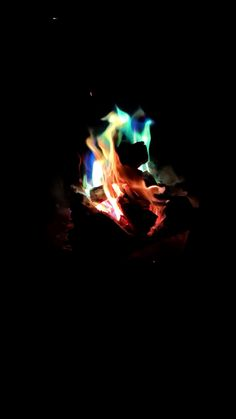 Colourful fire