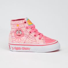 I know what somebody is getting for her birthday - too bad the shoes with all of the characters only come in Haley & Sophie's size...cause so many 3rd graders watch Gabba?