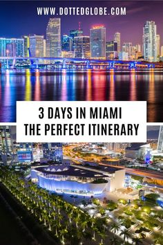 Looking for the best Miami itinerary? Find our recommendations for spending anywhere from 3 days in Miami to a week in Miami including popular attractions such as South Beach, Ocean Drive, Little Havana, and Wynwood via @dottedglobe #usatravel #visitmiami #visitflorida | miami itinerary | 3 days in miami | miami 3 day itinerary | things to do in miami | miami trip itinerary | miami in 3 days | miami itinerary 3 days | what to see in miami | long weekend in miami | how to spend 3 days in… Usa Travel Guide, Travel Usa, Travel Guides, Travel Tips, Best Vacations, Vacation Destinations, Vacation Spots, Florida Vacation, Florida Travel