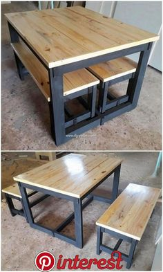 Incredible DIY Projects from Recycled Wood Pallets Incredible DIY Projects from Recycled Wood Pallets Do you have wood pallet furniture in your house? Did you ever get the feeling impression that this wood pallet is giving you out the feel… - Diy Furnitu Pallet Furniture Designs, Wooden Pallet Furniture, Diy Furniture Easy, Metal Furniture, Furniture Projects, Garden Furniture, Furniture Stores, Furniture Plans, Luxury Furniture