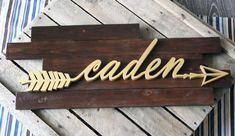 Caden Wood Arrow Wall Art Nursery Decor by CucumberAppleStudio