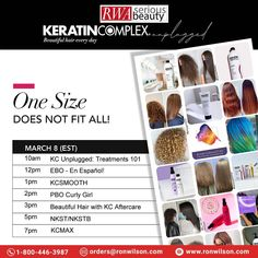 FREE VIRTUAL EDUCATION! ALL DAY LONG! Learn how to maximize your revenue + deliver beautiful hair every day with Keratin Complex. #keratintreatments for every hair type + texture! Register now on 📆Monday, Mar 8 ✅For More Information contact us: 📲Call Now: 1-800-446-3987 📩Mail Us: orders@ronwilson.com . . #KCSmooth #EBO #behindthechair #frizzfree #healthyhair #salonprofessional #haircareproduct #kcmax #onlineducation #onlineclass #virtualeducation #beautifulhaireveryday #kcunplugged Elements Of Color, Keratin Complex, Professional Hairstyles, Hair Care Tips, Curly Girl, Healthy Hair, Hair Type, Education, Learning