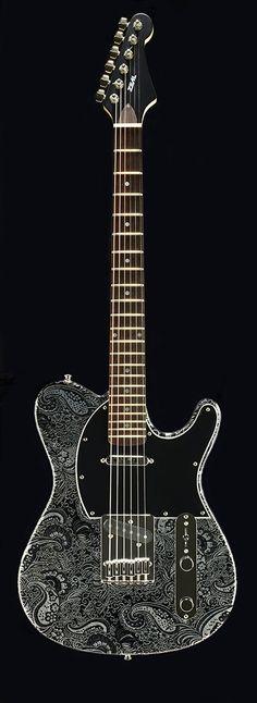 Zeal Guitars Black Paisley
