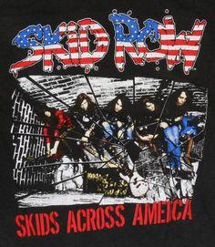 1989-90 Vintage Skid Row Concert Tour T Shirt Large