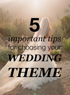 5 tips for choosing your wedding theme from real bride. Pin now, read later!