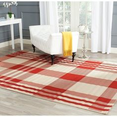 Shop for Safavieh Red/ Bone Indoor Outdoor Rug. Free Shipping on orders over $45 at Overstock.com - Your Online Home Decor Outlet Store! Get 5% in rewards with Club O!